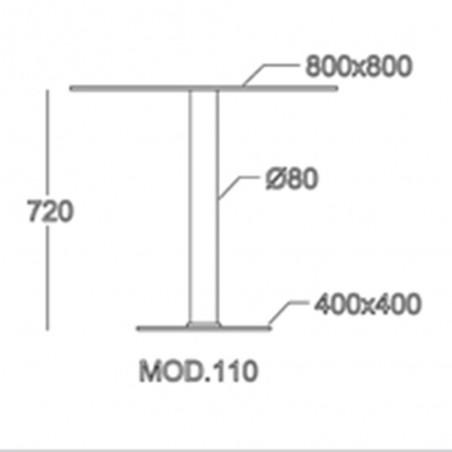 Picioare de mese centrale normale PE 110 Baza de masa