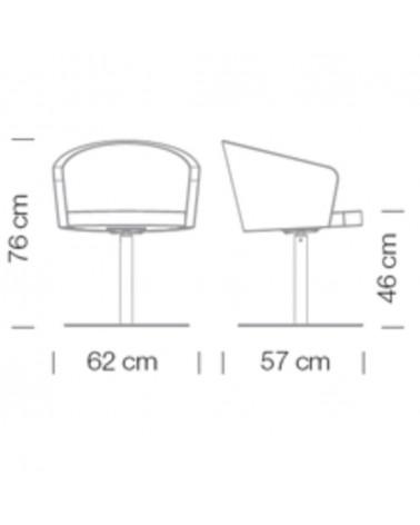 FO DD 4 scaun de birou rotativ