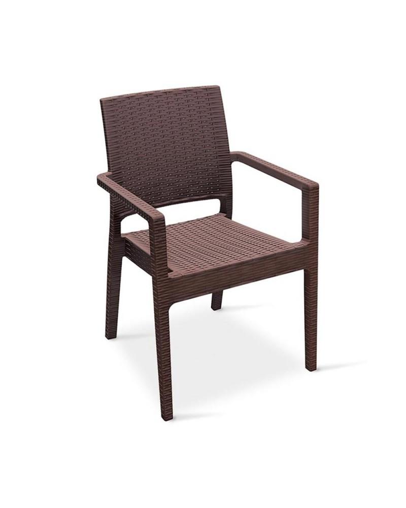 Scaune poliratan si tessil NI 1006 scaun de terasa