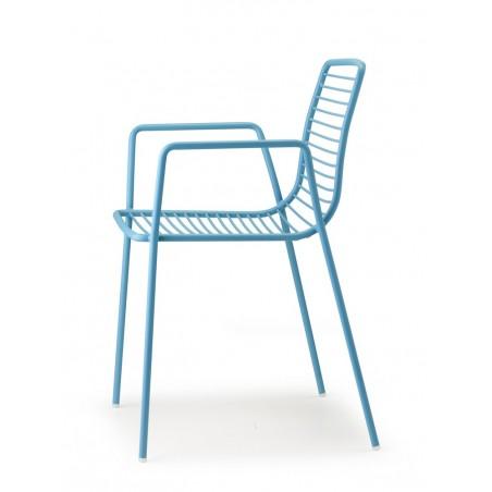SC Summer kényelmes, erős kültéri karfás fém szék többféle színben
