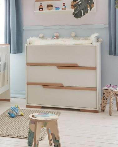 Acasa PI Snap comoda pentru copii cu 3 sertare, alb