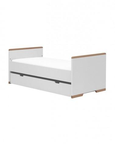 Acasa PI Snap pat pentru copii de 200*90 cm, alb
