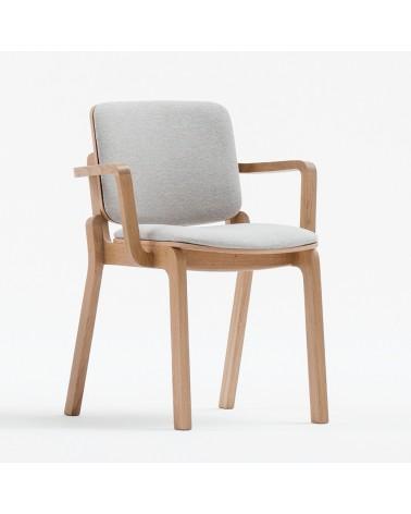 PG HIP II. Scaun din lemn cu brat tapitat de calitate