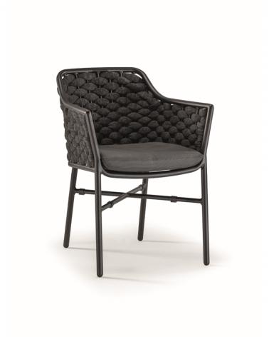 Acasa NI Panama Scaun confortabil de exterior în culori negre