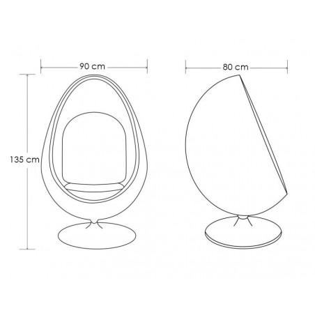 KH Fotoliu rotativ in forma de cupa