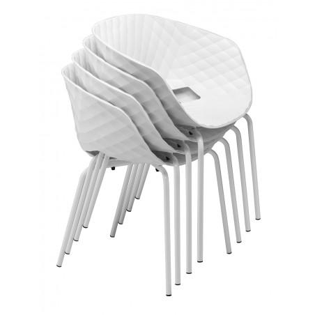 Scaun MO Uni-Ka Scaun din plastic cu schelet din metal
