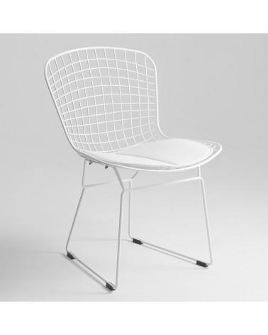 KD Diamnet  scaun cu schelet metalizat de culoare alba