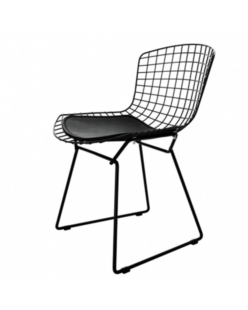 KD Diamnet scaun cu schelet metalizat de culoare neagra