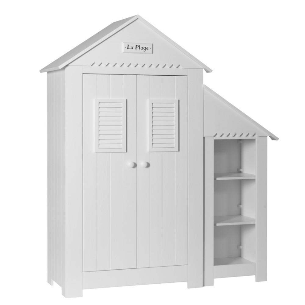 PI Marsylia dulap cu 2 usi si biblioteca pentru copii, pe culoarea alb si vanilie