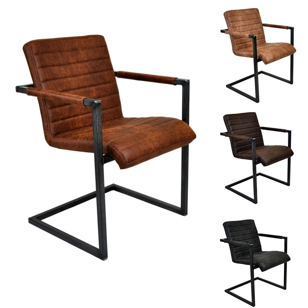VL Thomas scaun tapitat cu piele naturala