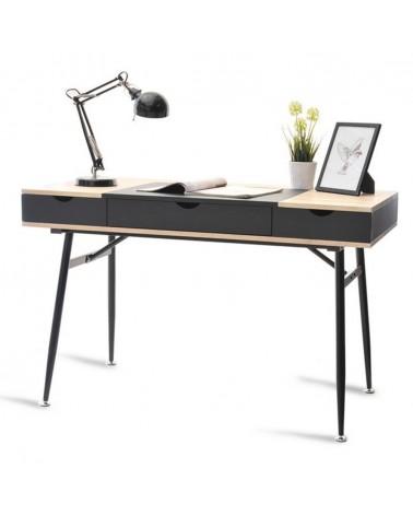 Mese de birou MB Boden masa de birou pe culoarea negru si stejar Sonoma