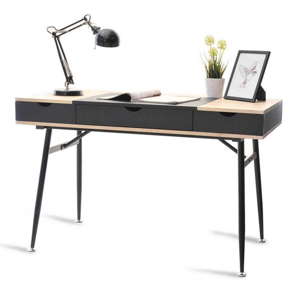 MB Boden masa de birou pe culoarea negru si stejar Sonoma
