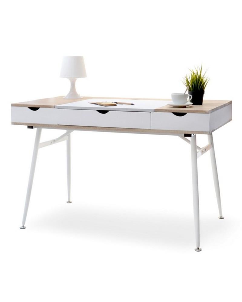 MB Boden masa de birou pe culoarea alb si stejar Sonoma