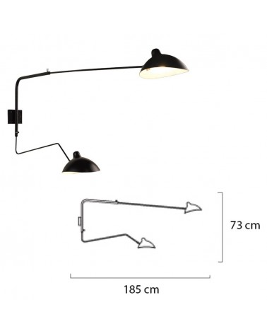 KH Replika Raven lampa de perete de design