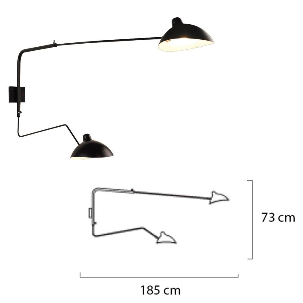 KH Replika Raven lampa de perete de design