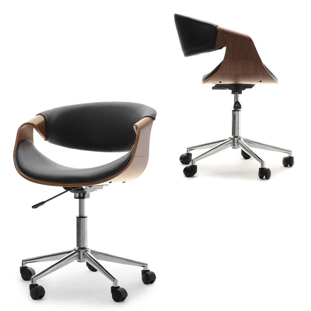 MB Rapid scaun de birou in stil SCANDINAV cu suprafata tapitata pe culoarea negru