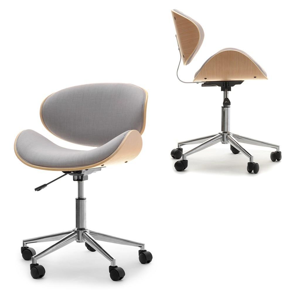 MB Swing scaun de birou in stil SCANDINAV cu suprafata tapitata pe culoarea gri