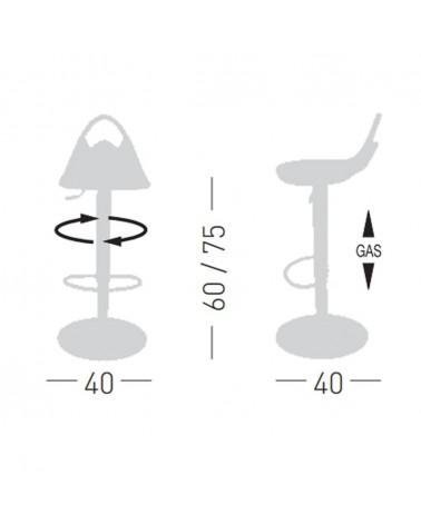 Scaun de bar din plastic GE Citro Scaun de bar